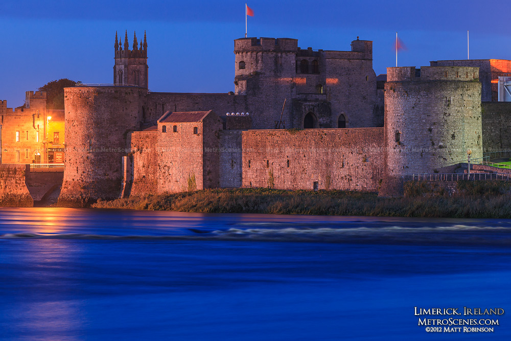 King John's Castle at night - Limerick, Ireland