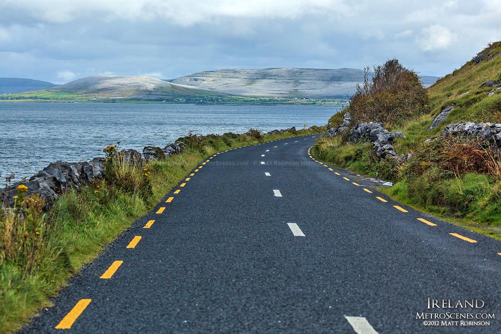 Driving along the Western Irish Coastline