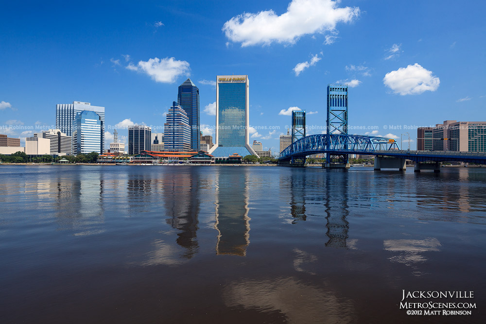 St. Johns River mirrors the Jacksonville Skyline