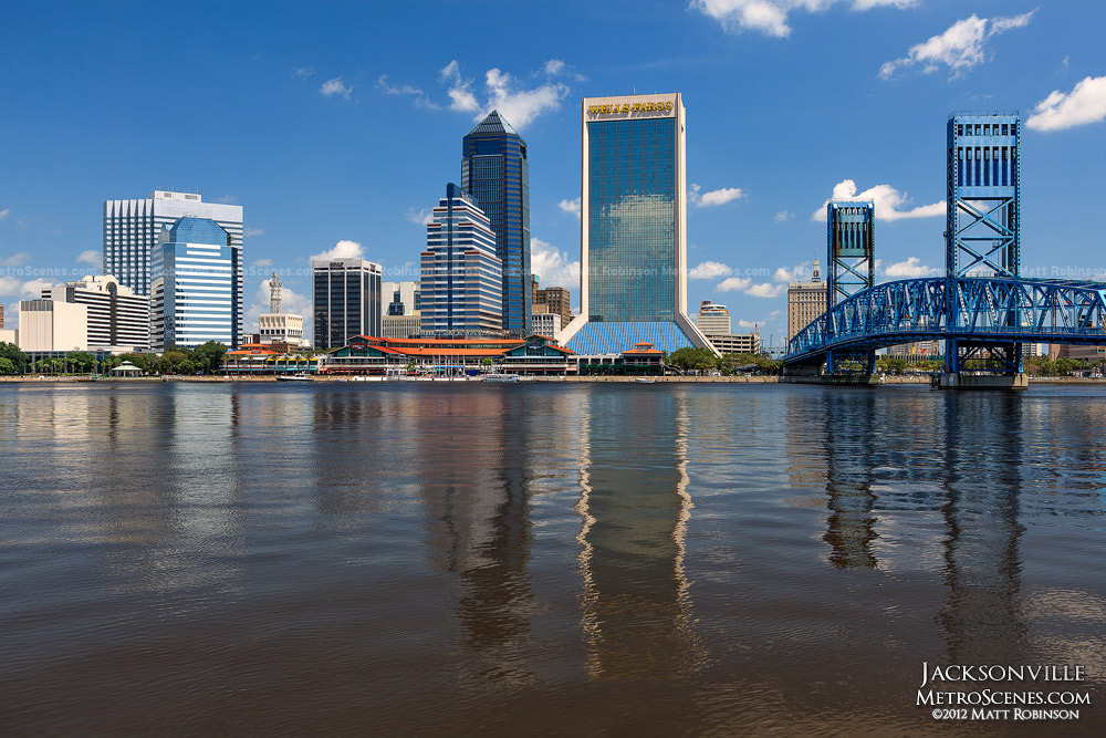Blue skies over Jacksonville Florida