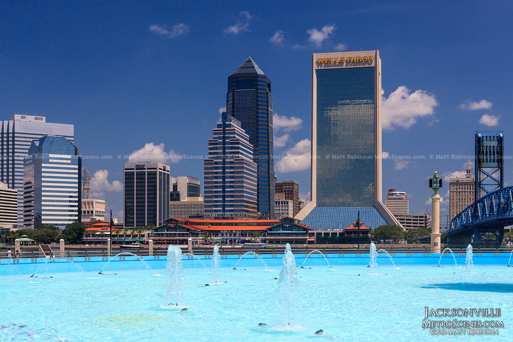 Jacksonville Skyline with Friendship Fountain