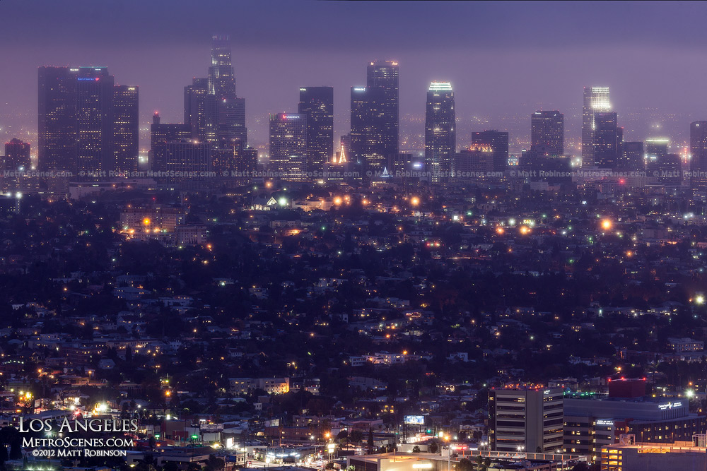 Cloudy Los Angeles from Griffith Observatory