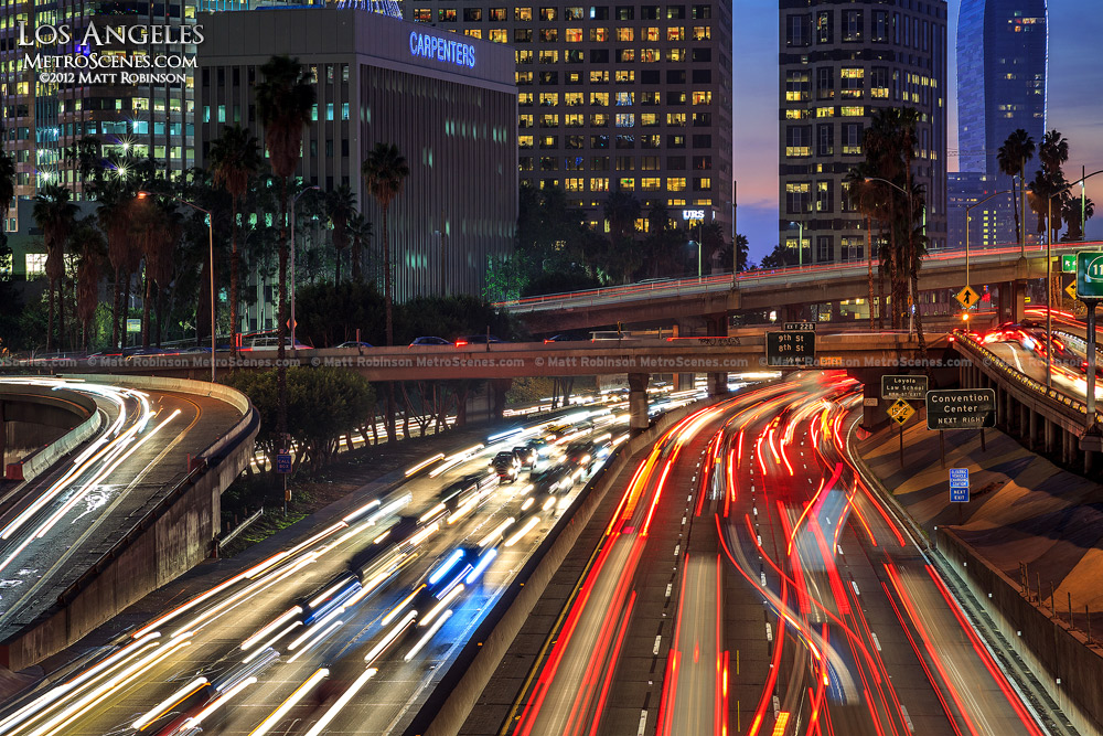 Los Angeles Rush Hour Traffic on the 110