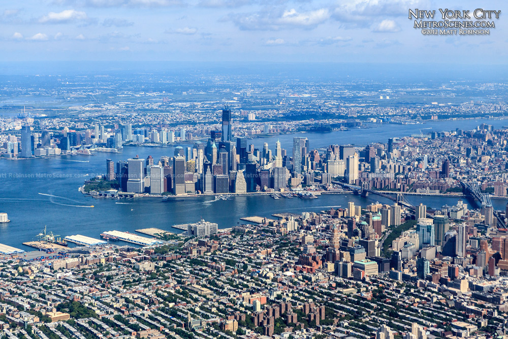 Aerial of Manhattan and Brooklyn