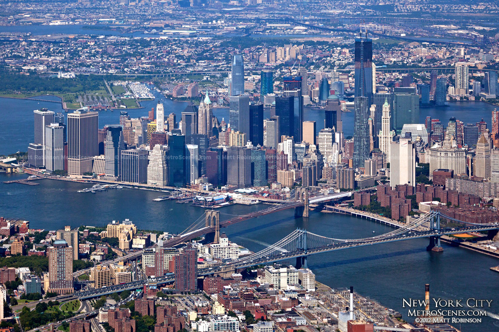 Lower Manhattan Aerial with World Trade Center - August 2012