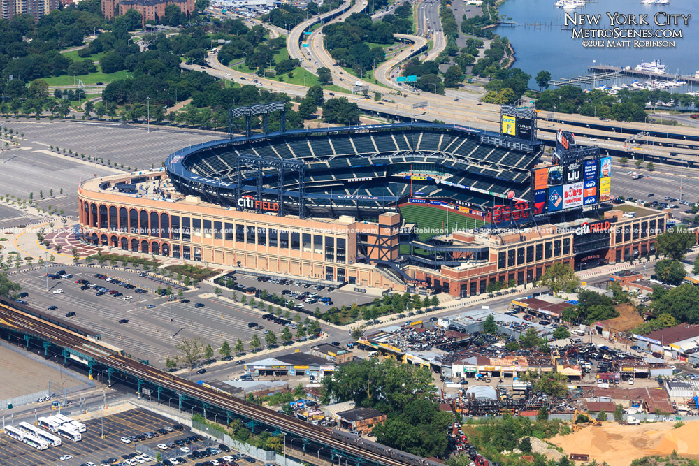Aerial of Citi Field in Queens