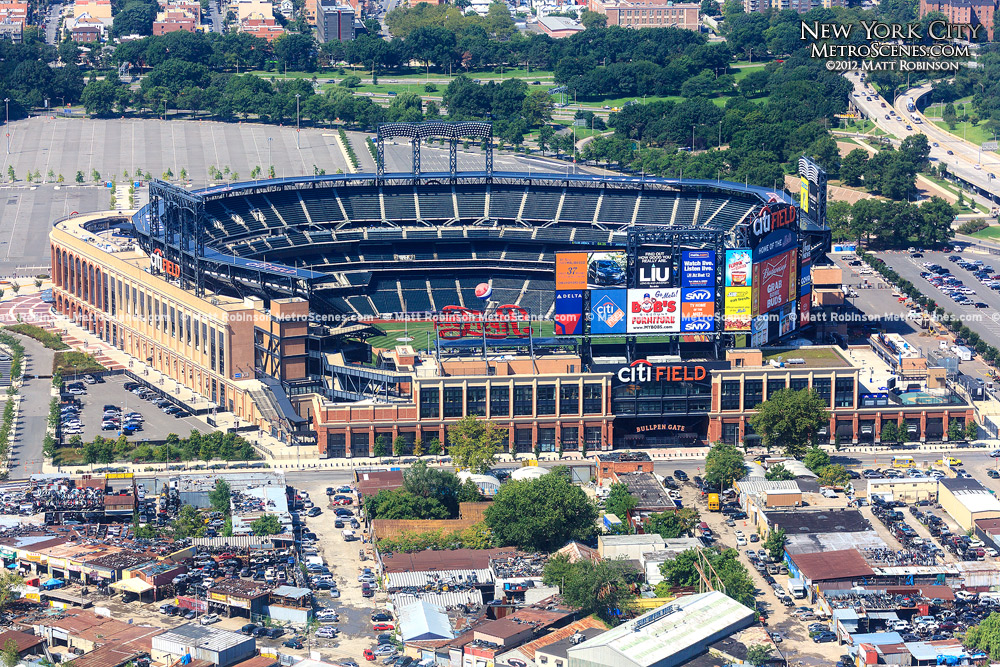 Aerial of New York Mets Citi Field in New York City