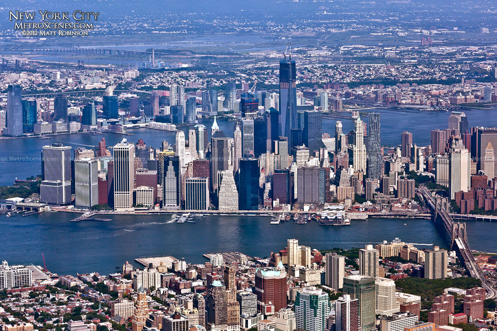 Aerial of Lower Manhattan - August 2012