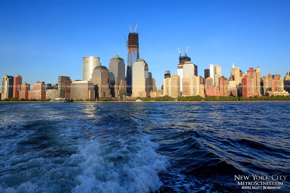 Lower Manhattan from the Liberty State Park Water Taxi