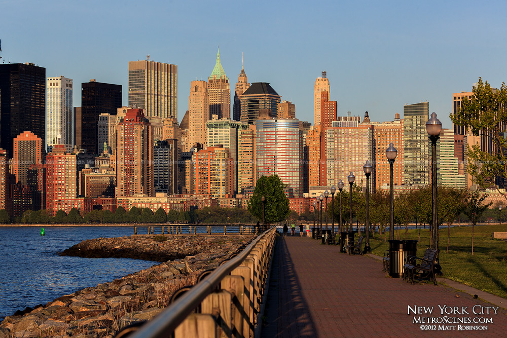 Liberty State Park and Downtown New York