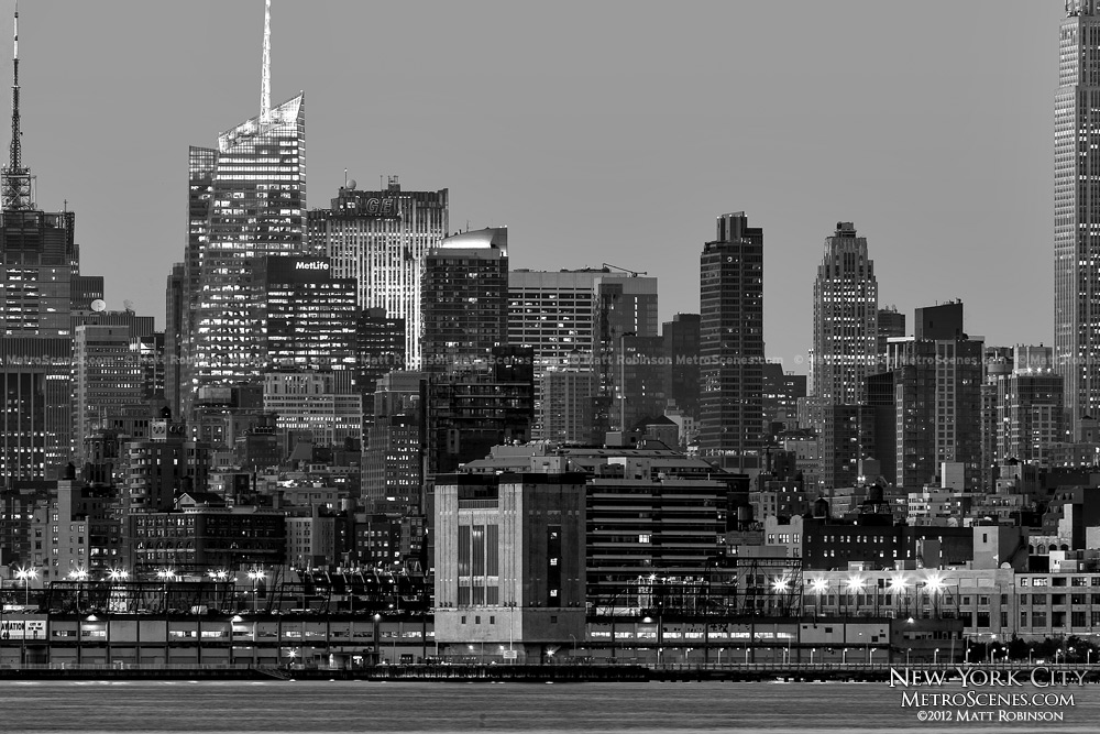 Black and White midtown New York