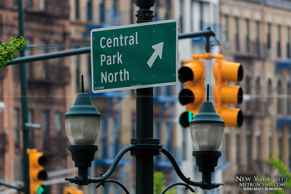 Central Park North Sign