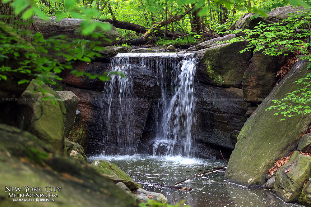 Waterfall in the North Woods of Central Park