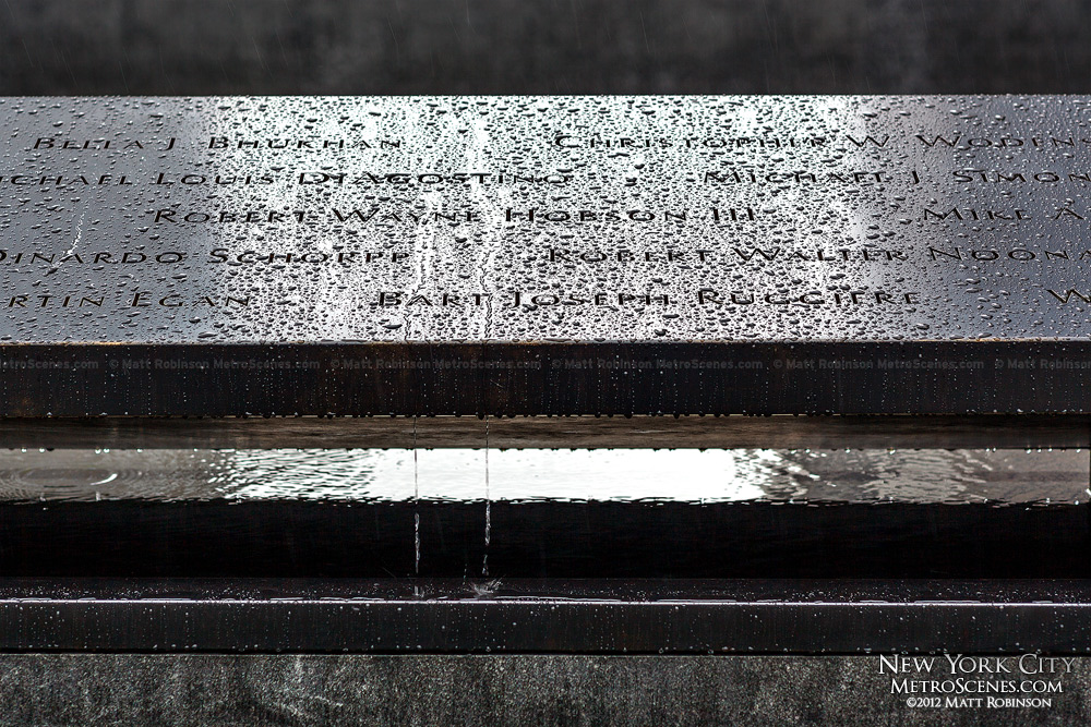 Rainfall on the 9/11 Memorial