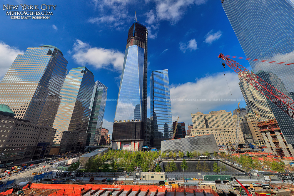 Blue skies over the World Trade Center