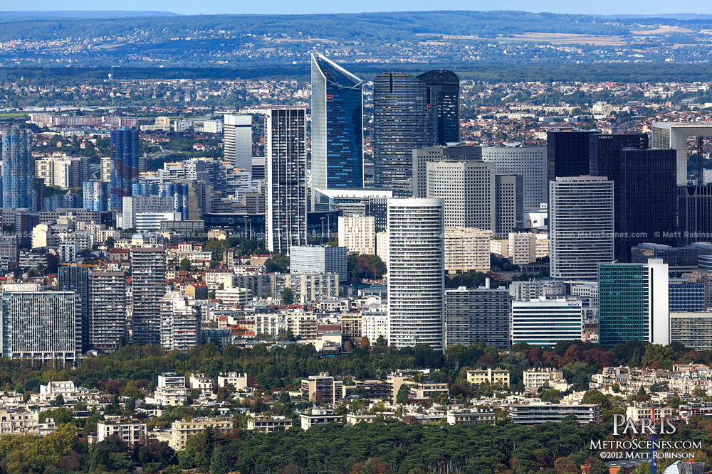 La Defense from Tour Montparnasse