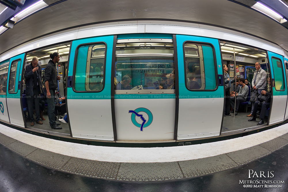 Fisheye of Paris Metro Train