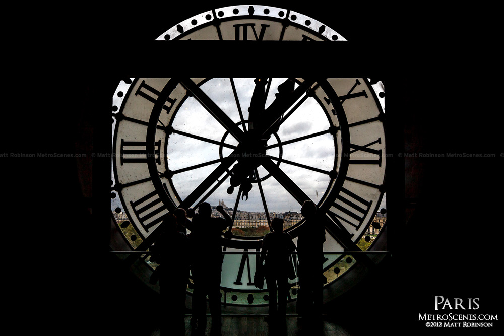 Clock face inside Orsay Museum