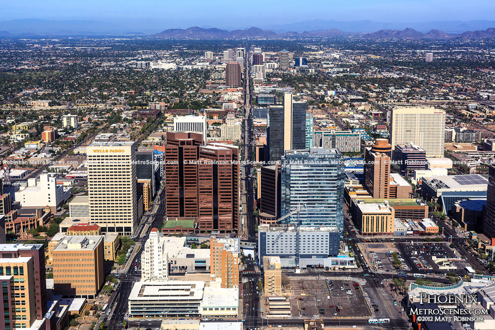 Downtown Phoenix, Arizona Aerial