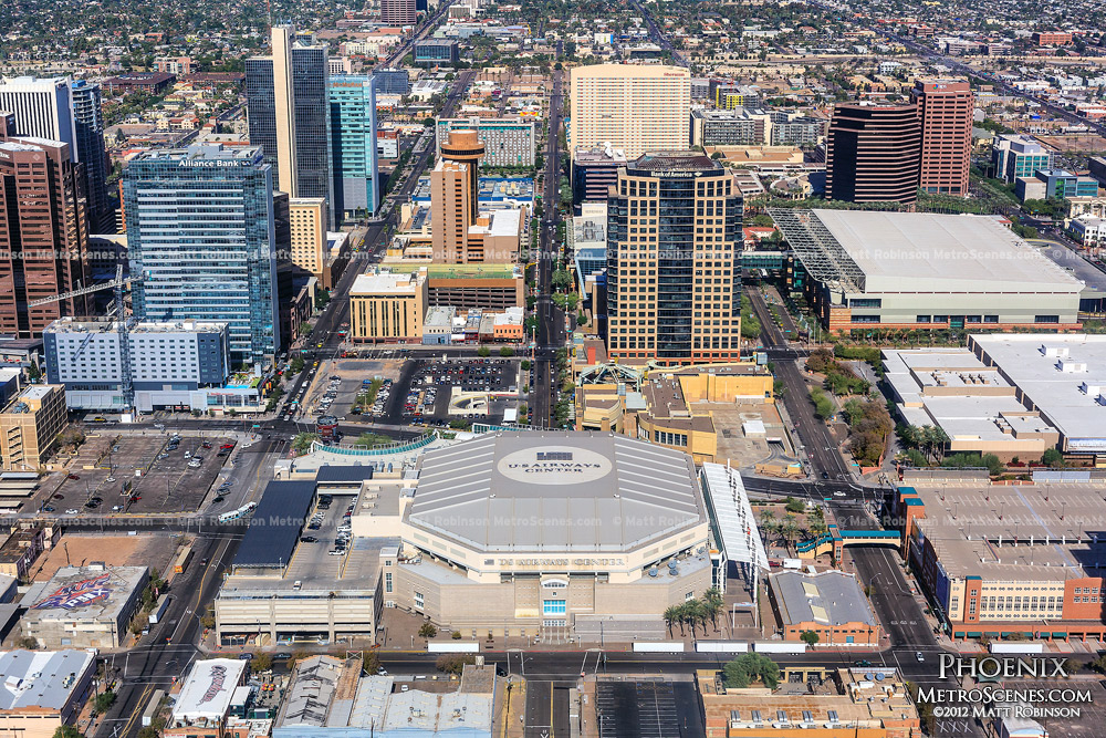 US Airways Center Aerial in Phoenix, AZ