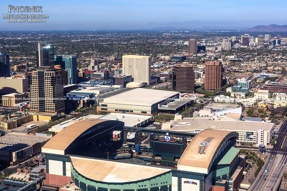 Phoenix Aerial over Chase Field