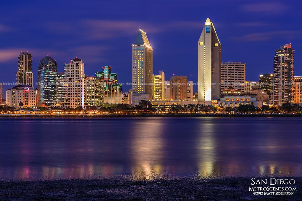 Magic hour San Diego Skyline