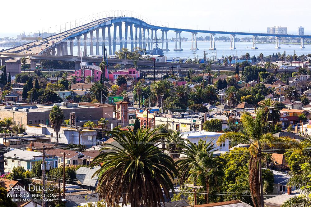 San Diego–Coronado Bridge from Grant Hill Park
