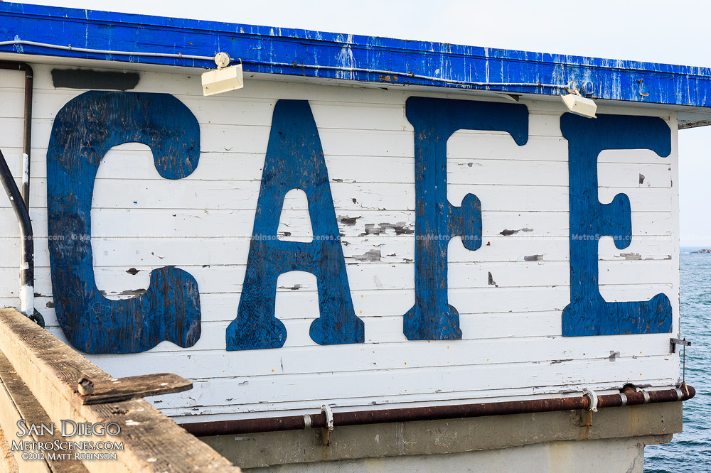 Ocean Beach Pier Cafe sign