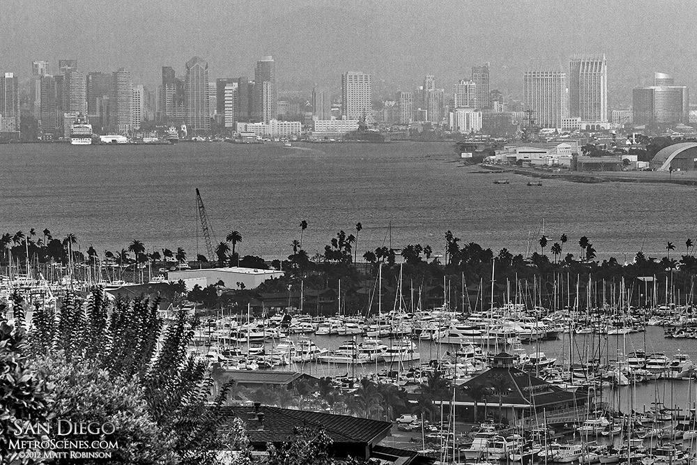 Hazy San Diego Skyline from La Playa