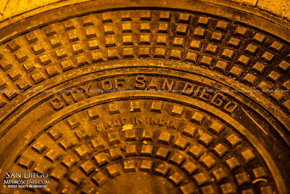San Diego Man hole cover