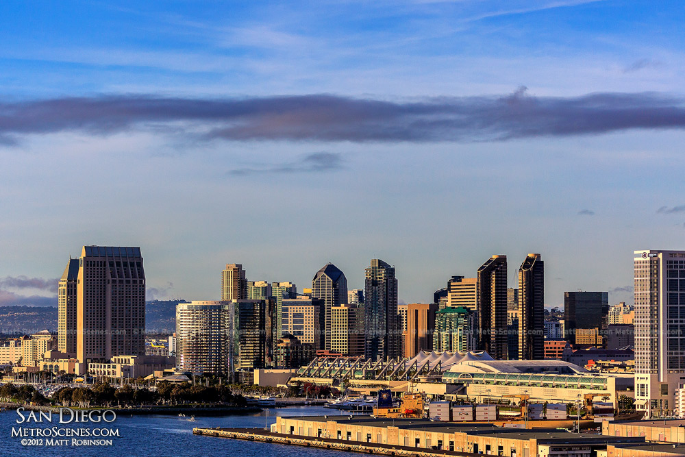 San Diego Skyline from Coronado Bridge