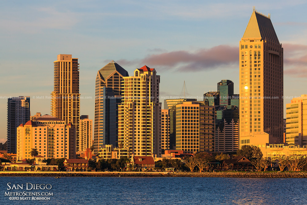 San Diego Bay with skyline
