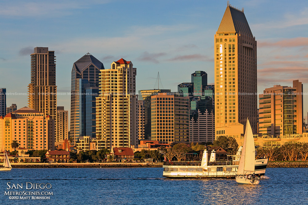 Downtown San Diego with Sailboat