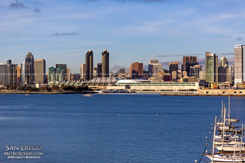 San Diego Bay with downtown skyline