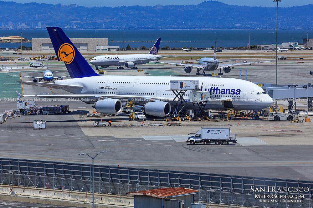 Lufthansa Airbus A380-800 at San Francisco International