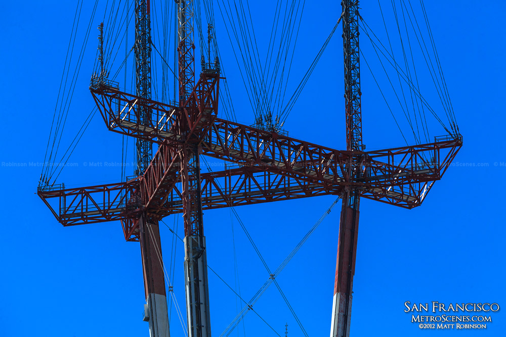 Close up of Sutro Tower - San Francisco