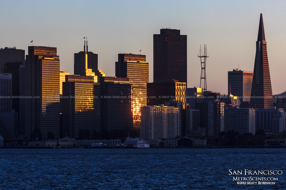 Sunlight reflections on San Francisco