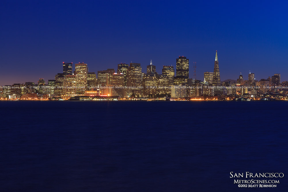Skyline of San Francisco from across the Bay