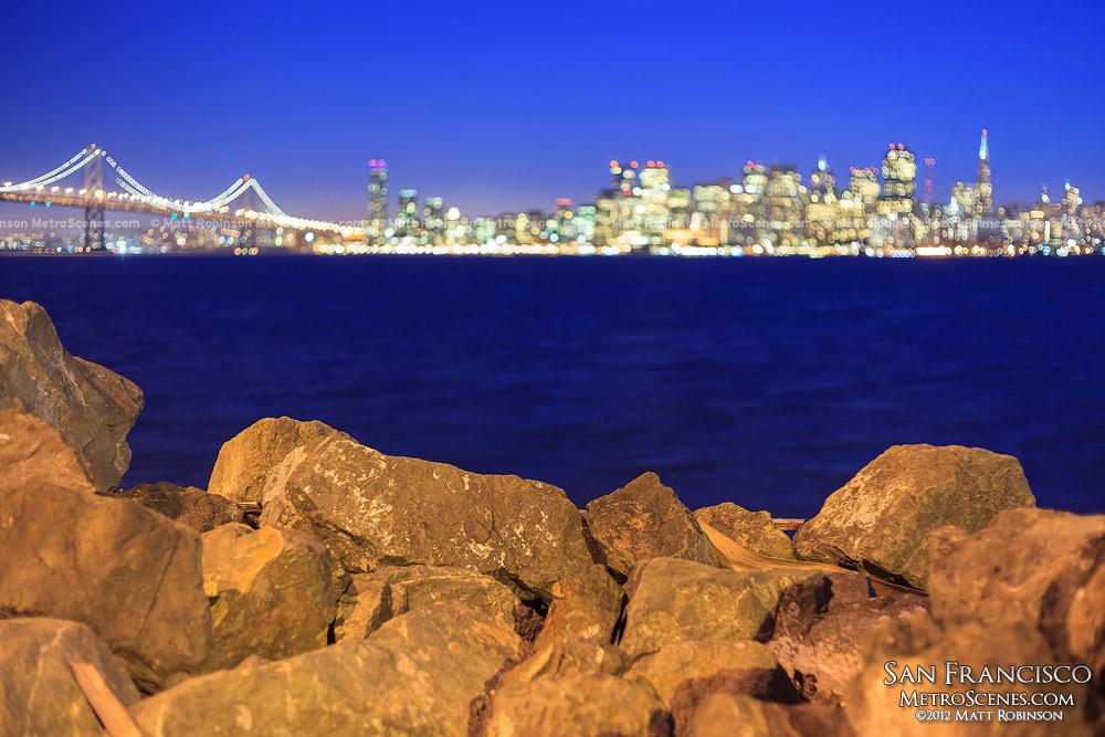 Treasure Island shoreline rocks