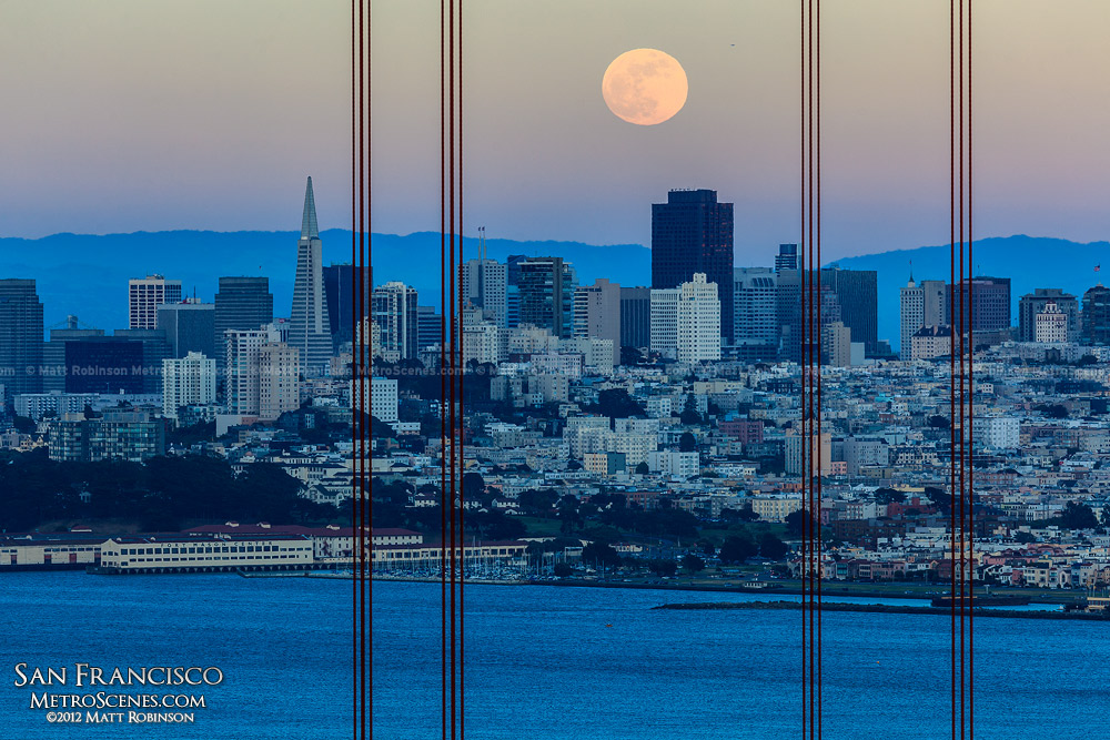 Moonrise over the San Francisco Skyline