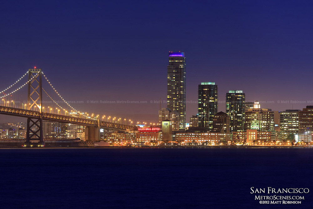 One Rincon Hill at night