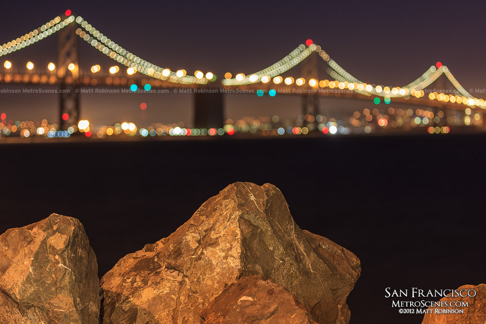 Bay Bridge unfocused