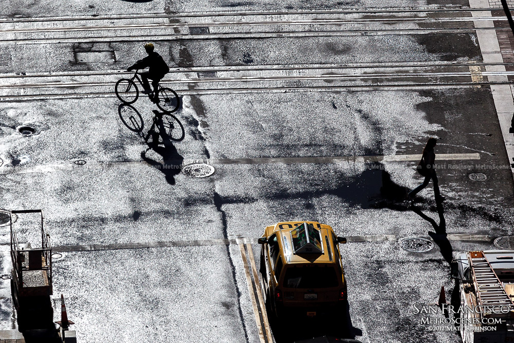 Morning Bicycle shadow