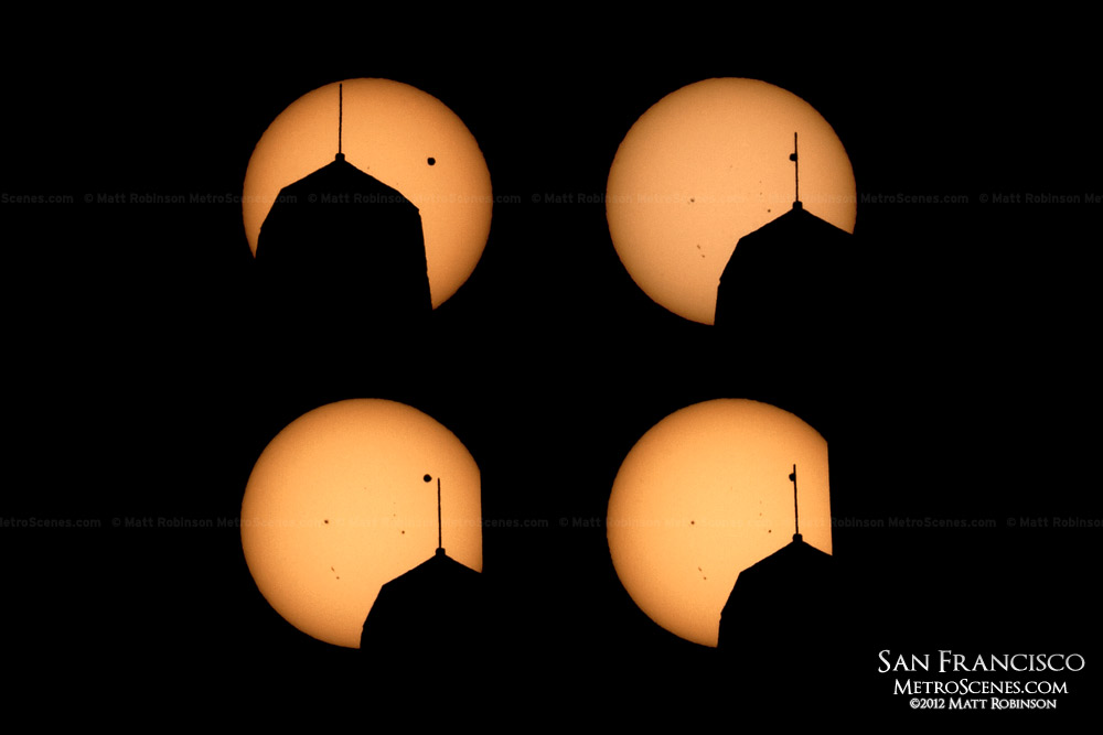 The Transit of Venus with the silhouette of the Transamerica Pyramid in San Francisco