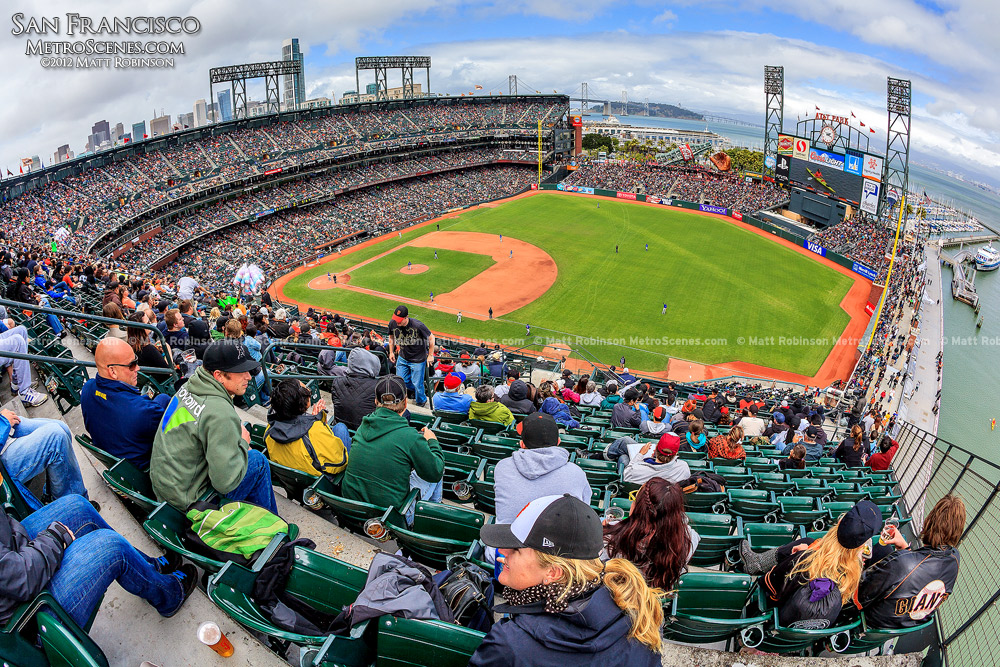Fisheye of AT&T Park from the nosebleed seats