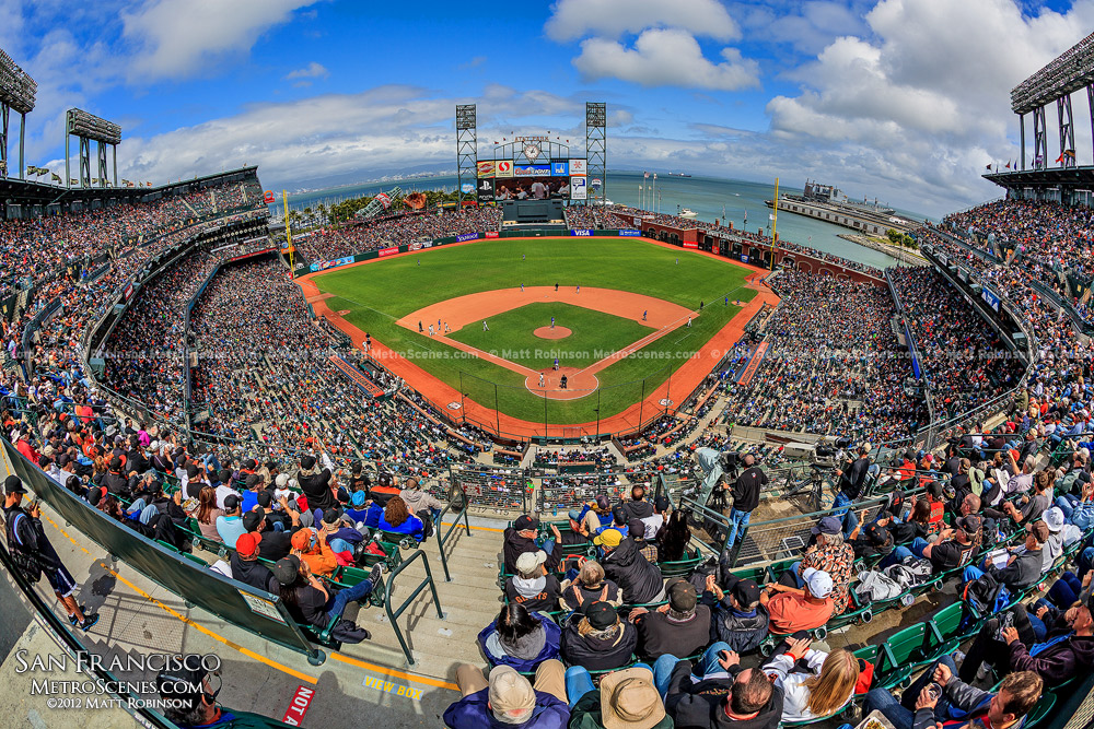 Fisheye of San Francisco Giants AT&T Park