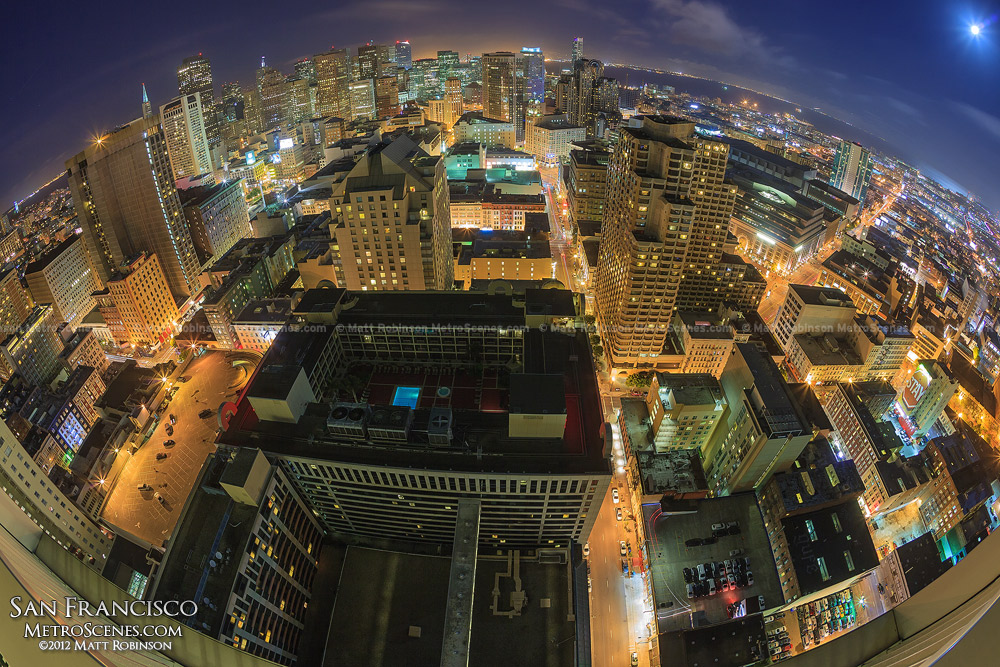 Fisheye over downtown San Francisco