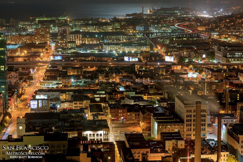 SOMA at night - San Francisco