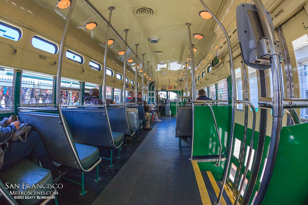Inside San Francisco Trolley Car