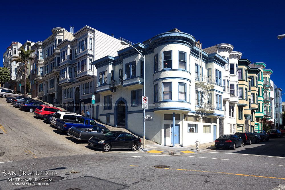 Corner of Kearny and Green Street in SF